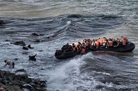 Refugee Boat Lands On Spanish Beach by No Room To Bury Refugees Lesbos Mayor Says Al Jazeera