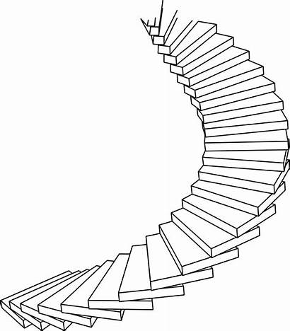Staircase Stairs Drawing Clipart Spiral Line Path