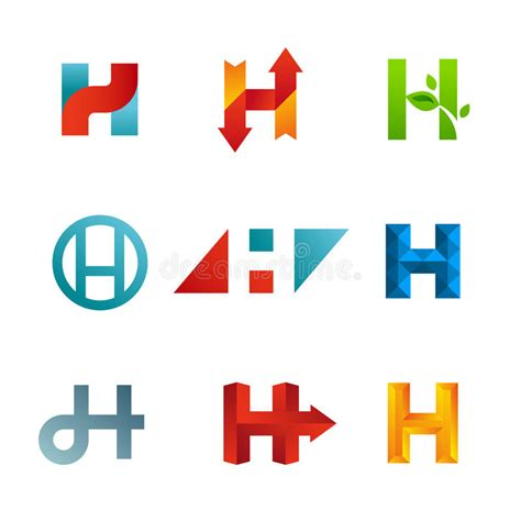 set  letter  logo icons design template elements stock