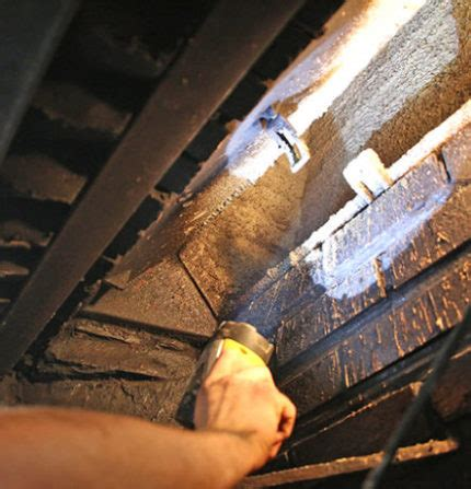 remove soot  fireplace tips  cleaning chimney