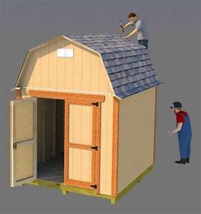 Small Barn Plans 8x10  Barn Shed Plans