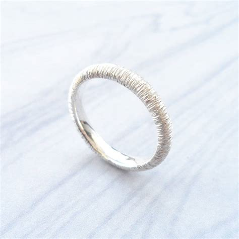 textured wedding ring by buskirk jewellery