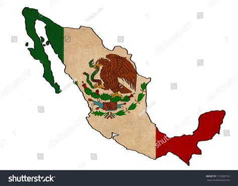 mexico map  mexico flag drawing stock illustration