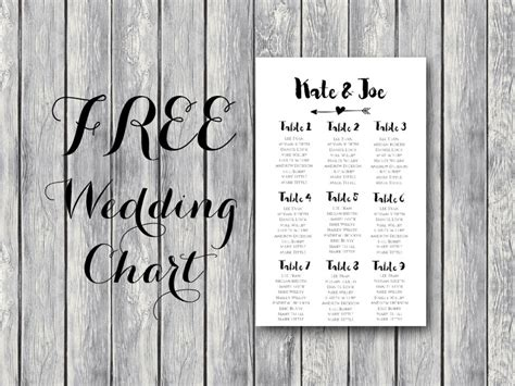 arrow wedding seating chart template bride bows