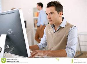 Smart Guy Working In Office Royalty Free Stock Photo ...