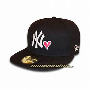 NY Yankees 59FIFTY MLB Hearted NY Love Cap exclusive Black ...
