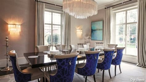 georgian style home luxurious formal dining room design ideas