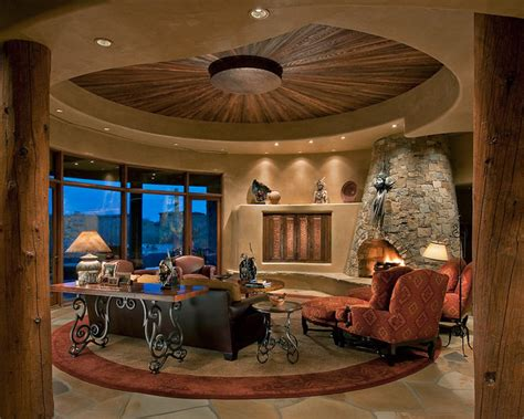 Southwest Living Room : Traditional Southwest Territorial