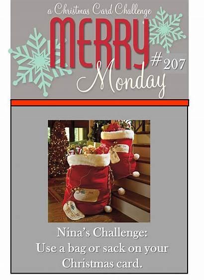 Monday Merry Christmas Bag Week Its Challenge