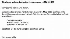 Bausparvertrag Kündigen Sparkasse : girokonto k ndigen konto aufl sen formular vorlage ~ Orissabook.com Haus und Dekorationen