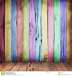 Planche De Bois Pour Mur Intérieur : mur multicolore des planches en bois image stock image ~ Zukunftsfamilie.com Idées de Décoration
