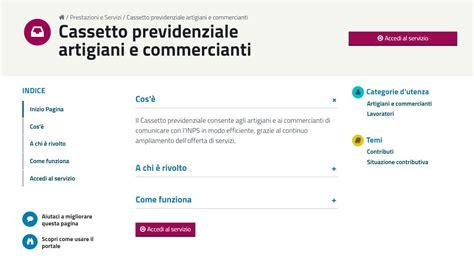 Cassetto Previdenziale by Cassetto Previdenziale Artigiani E Commercianti Aliquote