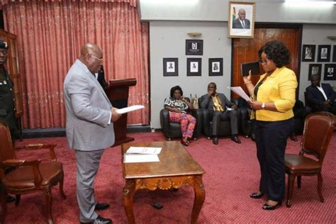 [Photos] AkufoAddo swears in Shirley Ayorkor Botchway in