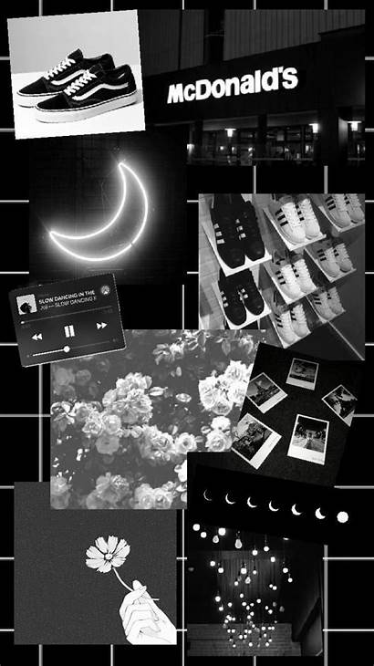 Aesthetic Collage Wallpapers Grey Iphone Dark Vsco