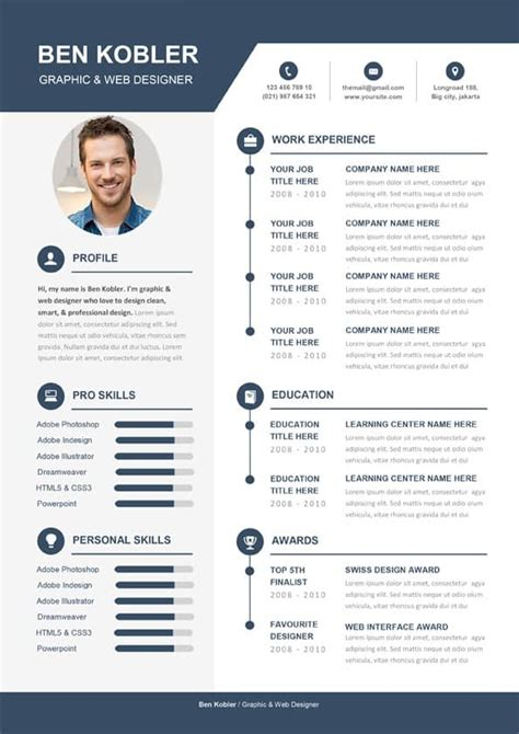 professional creative cv template   word