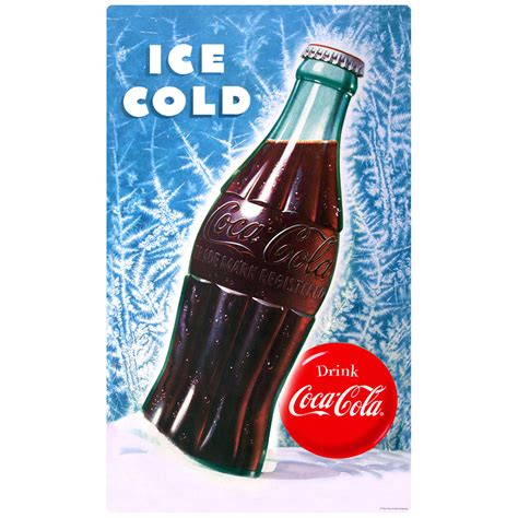 coca cola bottle ice cold wall decal  retro planet
