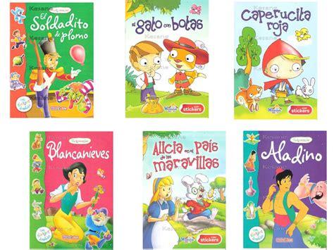 6 Cuentos Infantiles Libros Con Stickers Paquete Fiestas