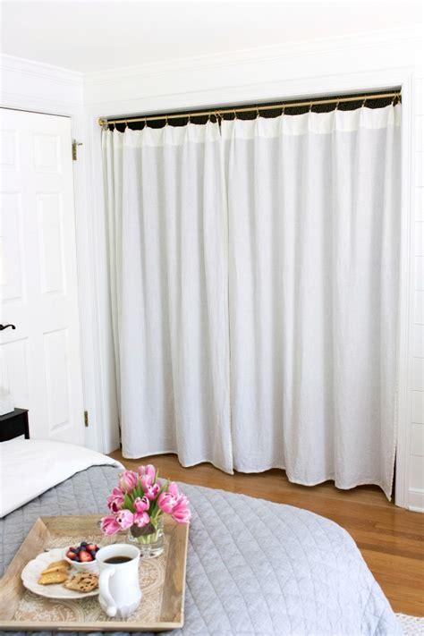 Replacing Bifold Closet Doors With Curtains Our Closet