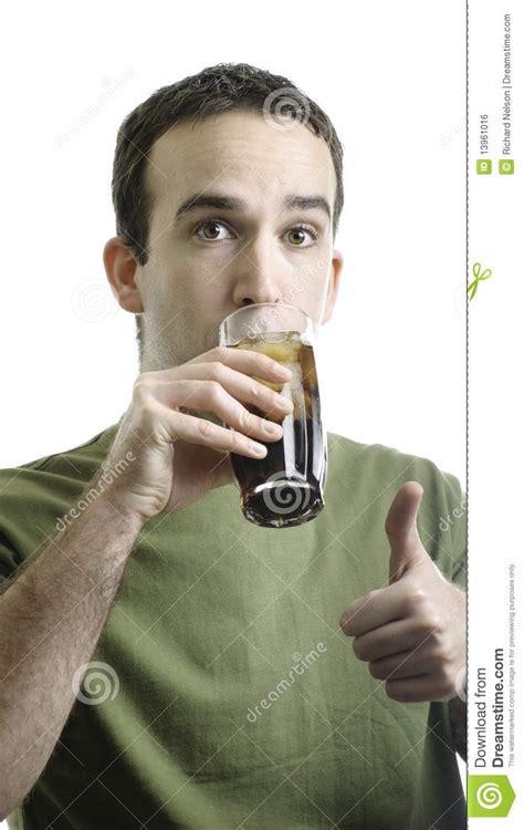 Man Drinking Pop Stock Photo Image Of Full, Cool, Fresh