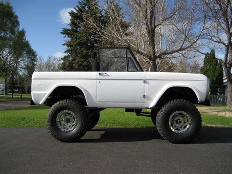 jeep bronco white white classic ford bronco on walker evans wheels my