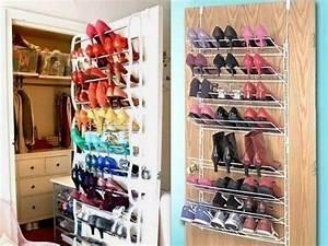 Rangement à Chaussures : rangement chaussure placard rangement et gain d 39 espace pinterest ~ Teatrodelosmanantiales.com Idées de Décoration