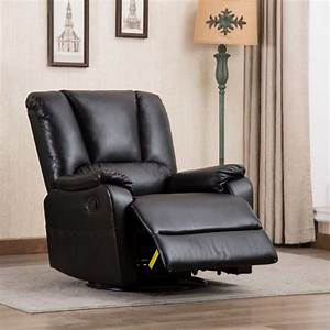 Classic And Traditional Brown Bonded Leather Recliner