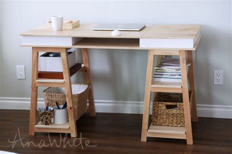 how to make your own desk ana white modern 2x2 desk base for build your own study