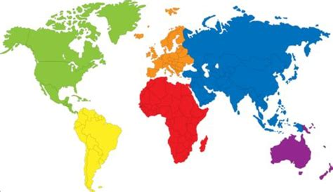 HD wallpapers simple colored map of the world