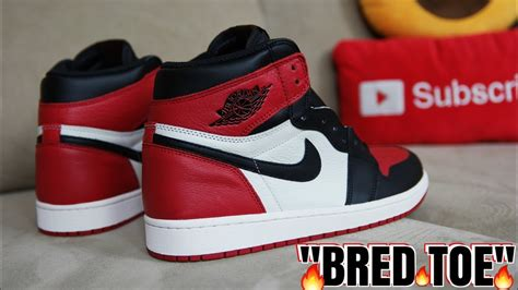 air jordan  bred toe full detailed review youtube