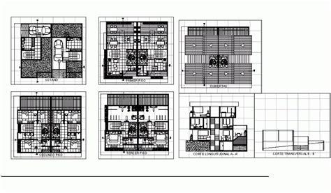 story apartment  basement garage  dwg plan