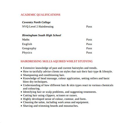 cover letter professional hair stylists and resume sle