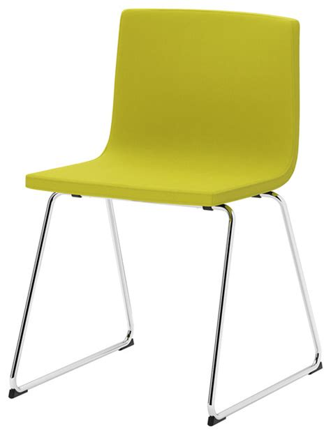 bernhard chair chrome plated kavat green yellow