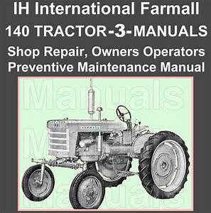 Ih International Farmall 140 Tractor Repair Shop