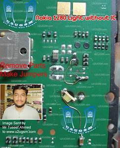 Nokia 1280 Light Without Ic Display Keypad Led 100  Tested