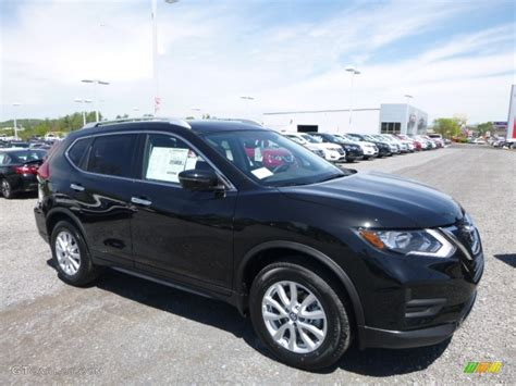 black nissan rogue 2017 magnetic black nissan rogue sv awd 120155504 photo