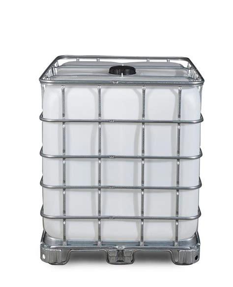 Prenez donc bien soin de vérifier ce point avant de choisir vos accessoires pour cuves ibc 1000l de récupération d'eau de pluie. Cuve Recobulk IBC produit dang., patin,1000l, DN 150 x DN 80