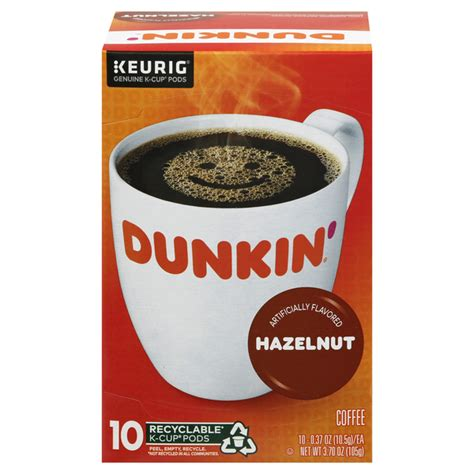 100% premium arabica coffee designed for use with keurig brewers enjoy an authentic dunkin' donuts experience in no time Save on Dunkin' Donuts Hazelnut Coffee K-Cups Order Online Delivery | GIANT