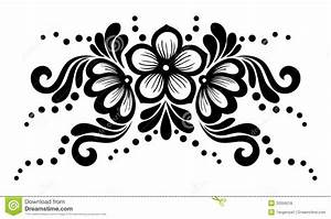 Home Design: Black And White Flowers And Leaves Design ...