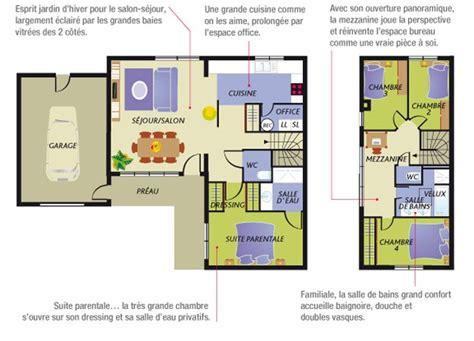 plan de maison contemporaine 4 chambres construction maison neuve nacre lamotte maisons