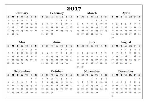free printable 2017 calendar free printable calendar templates 2017 printable free