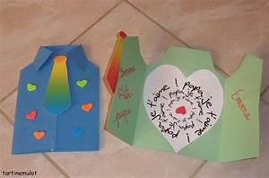 Cadeau Fete Des Pere : bricolage de carte en forme de chemise et avec un coeur ~ Dode.kayakingforconservation.com Idées de Décoration