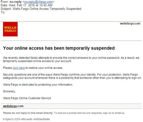 wells fargo  access temporarily suspended