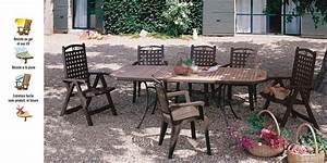 Salon De Jardin Plastique : salon de jardin orlando grosfillex table et fauteuils bora coloris bronze oogarden france ~ Teatrodelosmanantiales.com Idées de Décoration