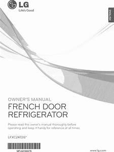 Lg Lfxc24726s  00 User Manual Refrigerator Manuals And