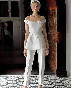 61 chic wedding suits for brides martha stewart weddings With wedding dress suits
