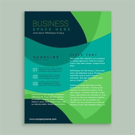 Blue And Green Vector Brochure Flyer Design Template Green And Blue Brochure Flyer Design Vector