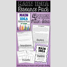 74 Best Main Idea Images On Pinterest  Reading Resources, Reading Activities And Reading