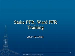 Lds stake and ward pfr training for Lds powerpoint templates