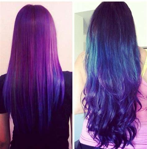 Galaxy Hair Purple Blue Ombre Hair Color Pinterest