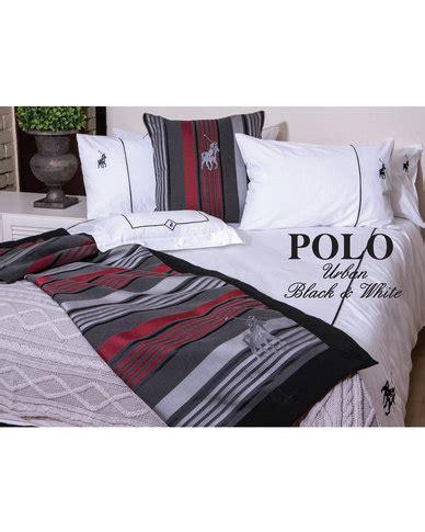 Polo Urban Duvet Cover Set Black & White Zando